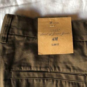 H&M LOGG 34 slim NWT brown  31 waist